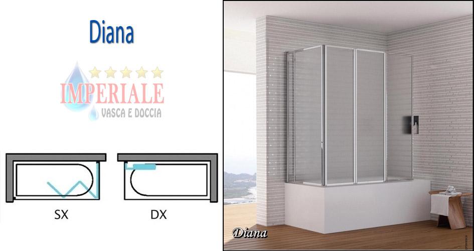 Box Doccia Sopra Vasca Da Bagno.Box Doccia Sopravasca Diana