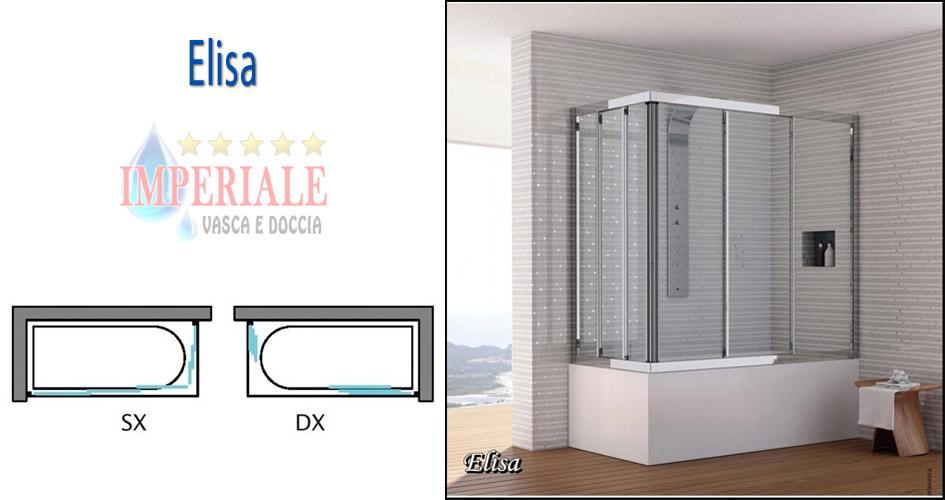 Sopra Vasca Da Bagno Prezzi : Box doccia sopravasca elisa